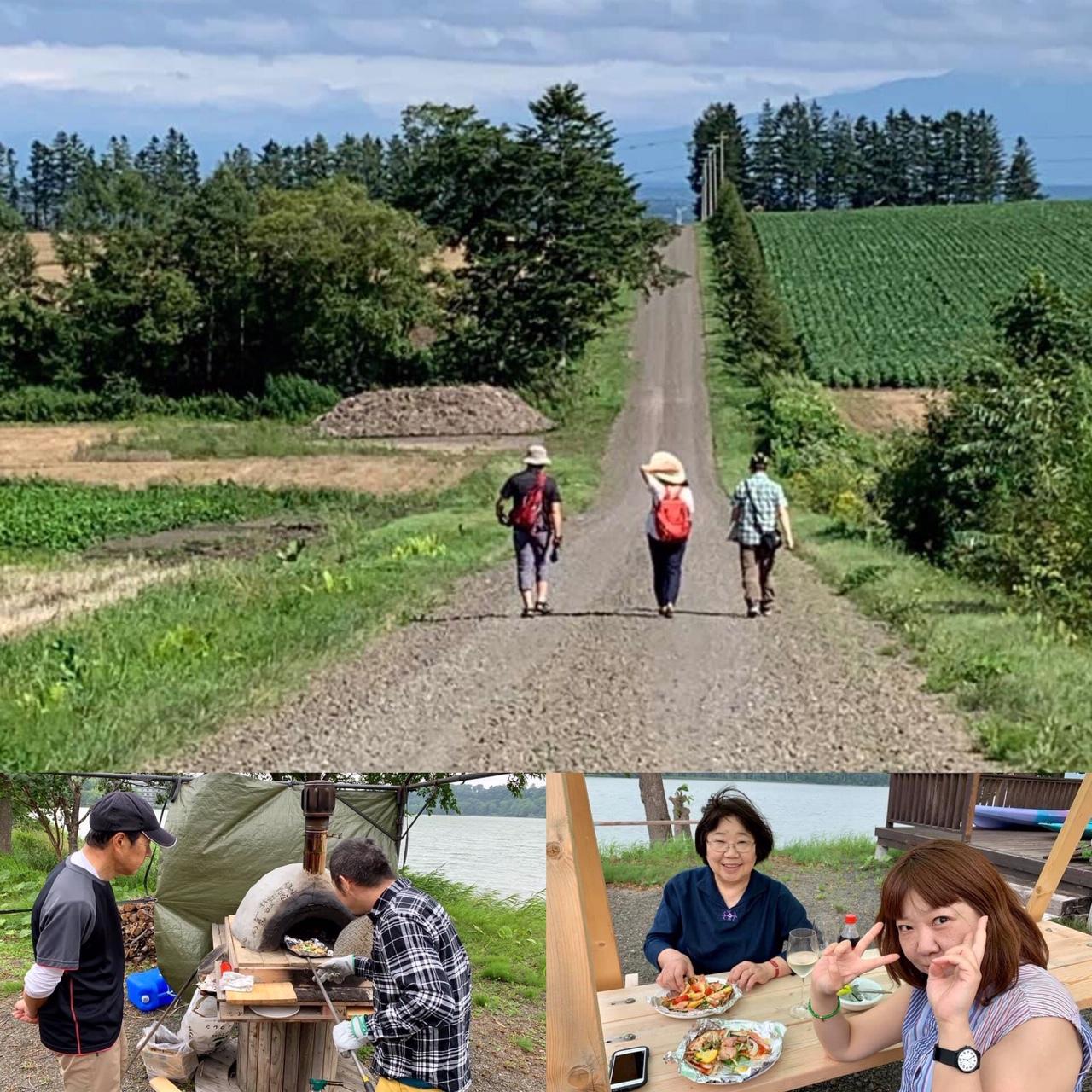 【ツアー】知床連峰を望む雄大な畑散策 & 地元産小麦粉を使ったピザ作り体験
